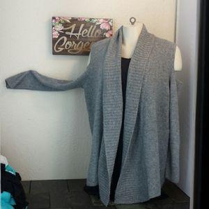 Lane B. Cold shoulder Long sleeve sweater cardigan